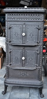 Victorian Era Cast Iron Parlor Stove in Ramstein, Germany