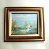 FRAMED COUNTRY LANDSCAPE PAINTING ON CANVAS 13x15 in Oswego, Illinois