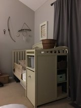 Custom painted 3 in 1 baby crib with storage in Chicago, Illinois