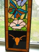 Longhorn UT Stained Glass Panel in Baytown, Texas