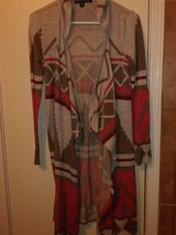 Long open cardigan in The Woodlands, Texas