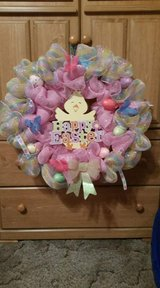 Homemade wreath in Fort Drum, New York