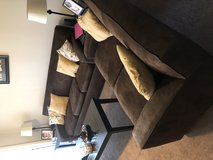 Brown suede sofa bed couch set in Eglin AFB, Florida