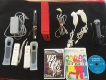 Wii RED Console with Games in Beaufort, South Carolina