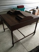 Antique walnut double sided desk in Joliet, Illinois