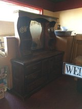 Solid Wood Dresser With Hutch Mirror in Fort Polk, Louisiana