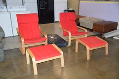 Pair of Sling Chairs w/ ottomans w extra pad. in Fort Lewis, Washington