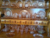 Depression glass collection Pink Poinsettia in Camp Lejeune, North Carolina