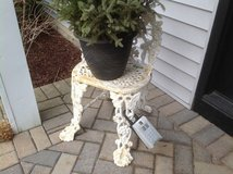 Wrought Iron White Chair in Bolingbrook, Illinois