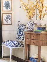 chair chairs. perfect newly upholstered. high end. Blue and Navy blue in Naperville, Illinois