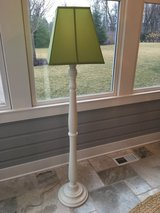 Pottery Barn Kids White Payton Floor Lamp + Green Parker Shade in Glendale Heights, Illinois
