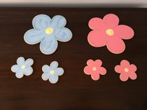 Saraboo Creek Wall Decor for Little Girls Room: Blue and Pink Flowers in St. Charles, Illinois