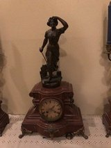 Antique clock and candelabras in Kingwood, Texas