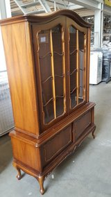 Antique Handmade Glass Cabinet Chippendale Style (Made in Germany) in Stuttgart, GE