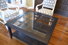 coffee Table. Dark Navy Glass top . Beautiful in Morris, Illinois