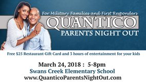 Free $25 Restaurant Gift Card and 3 hours of childcare in Quantico, Virginia