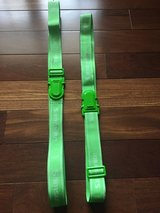 "2 Samsonite Luggage Straps - Neon Green - 68"" Long in Glendale Heights, Illinois"