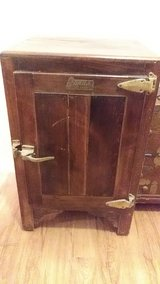 antique Japanese ice chest bought in Japan in The Woodlands, Texas