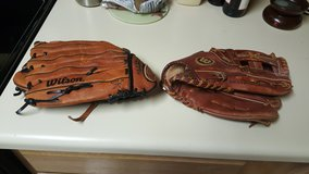 2 Baseball Gloves in Macon, Georgia