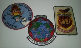 Vintage ship patches in Cherry Point, North Carolina