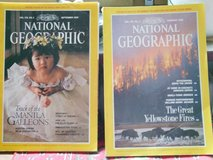 13 Old National Geographic magazines in Ramstein, Germany