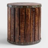 WOOD PLANK DRUM TABLE in Beaufort, South Carolina