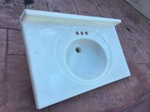 Marble one-piece bathroom sink and table top 36x22 in Fairfield, California