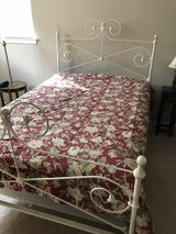 Full-Size White Iron Bed in Kingwood, Texas