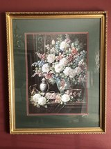 Framed and Matted Painting - Flowers in a Vase in Spring, Texas