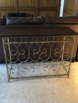 Metal and Wood Sofa Table in Spring, Texas