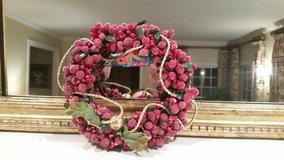 Candle Ring - Red Beads and Berries in Naperville, Illinois