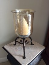 Glass and Metal Candle Holder in Oswego, Illinois