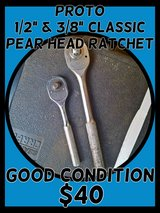"""Proto 1/2"""" & 3/8"""" Classic Pear-Shaped Ratchets in Fort Lewis, Washington"""