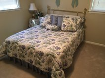 Full size bed and all bedding and matching curtains in Macon, Georgia