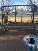 Outside swing or bed  bronze base color black swing in Lawton, Oklahoma