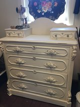 Vintage shabby chic walnut dresser in Elgin, Illinois