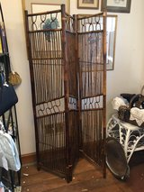 Vintage bamboo screen in Elgin, Illinois