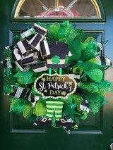 St. Patrick's Day Mesh Wreath in Plainfield, Illinois