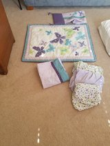 Purple butterfly crib bedding set in Naperville, Illinois