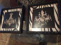 Pair of chandelier framed pictures in Kingwood, Texas
