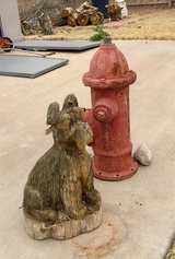 Carved Dog & Hydrant in Alamogordo, New Mexico