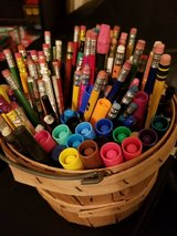 Basket Full of Pens, Pencils & Markers in Fairfield, California