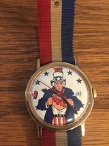 Vintage 1970's Uncle Sam Watch with Red/White/Blue Band in Oswego, Illinois