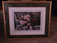 Rose Print in gold frame in Algonquin, Illinois