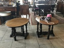 set of 2 solid wood side tables that fold out in Spangdahlem, Germany