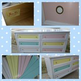Dresser with Changeable Color Panels in Bolingbrook, Illinois