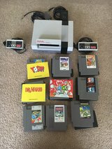 Nintendo NES System Game Console + Power Adapter + Controllers + 10 Games in Beaufort, South Carolina