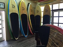 Hot curl bamboo Stand Up Paddle board surf boards SUP in Okinawa, Japan