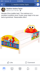 Wooden Elmo toddler bed in Fort Polk, Louisiana
