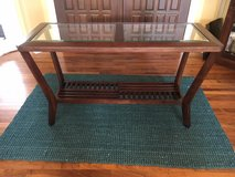 sofa table /entry table. beautiful like new tempered beveled glass in Morris, Illinois